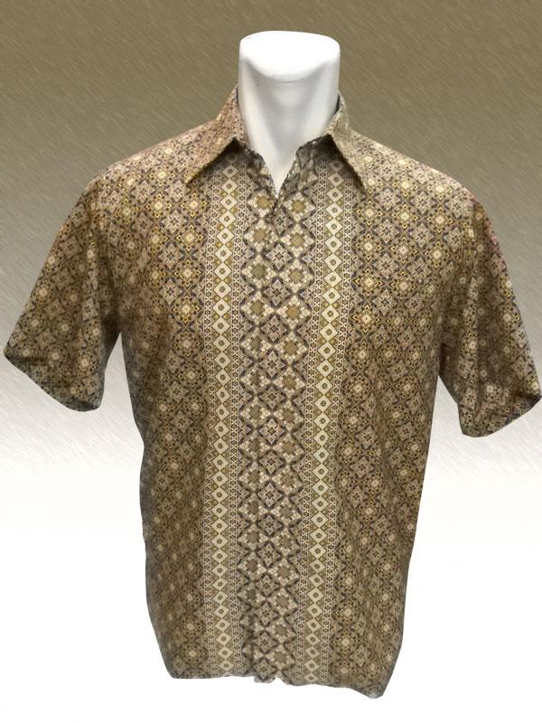 Baju Batik Diamond Coklat Mega Mendung Golden Batik
