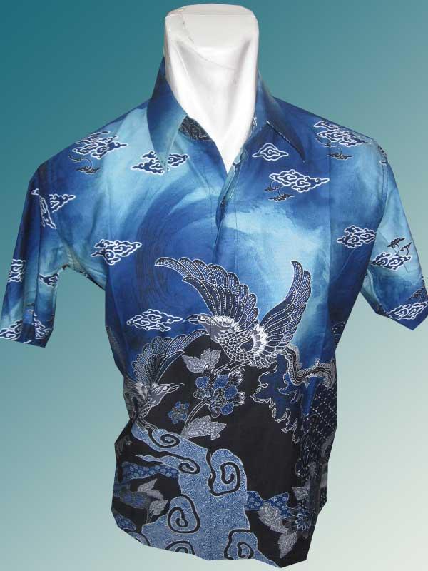 Baju Batik Batik Katun Mega Mendung Burung Angsa Batik