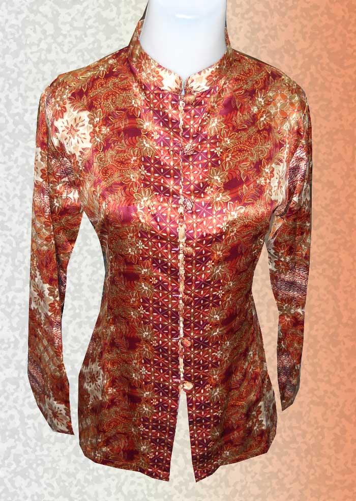 Model Baju Batik Modern Lengan Panjang Wartaspot