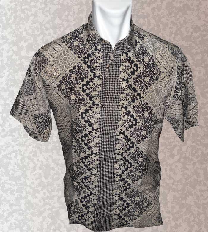 Baju Batik Baju Batik Pria Warna Halus Cokelat Hitam Motif