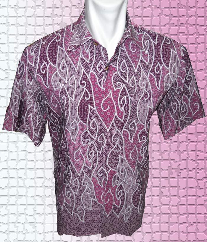 Baju Batik Baju Batik Mega Mendung Corak Dedaunan Hati
