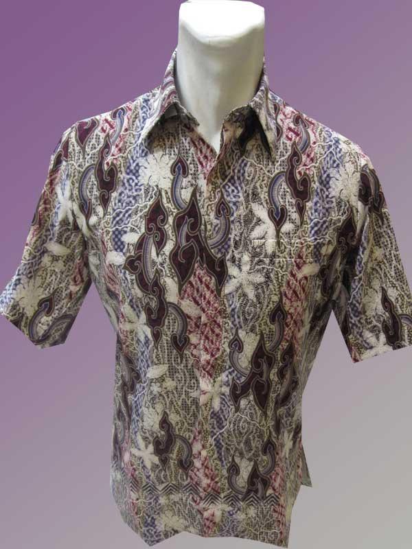 Baju Batik Batik Lengan Pendek Motif Mega Mendung