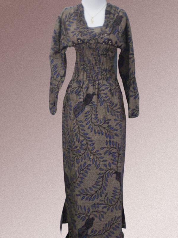 Baju Batik Batik Wanita Model Gamis Batik Indonesia Modern