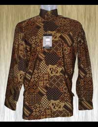 Batik Motif Abstrak Semi-Gelap Corak Jawa-Eropa - First Model Remake