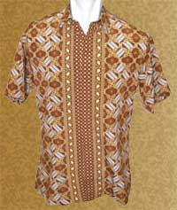 Baju Batik Kencana - Background Coklat Khas Batik, Batik Indonesia
