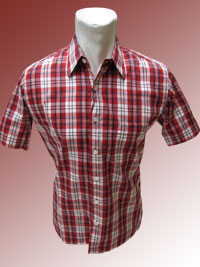 'Hem Garis Kotak Red Color'
