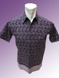 'Batik Katun,Full Motif Kepompong Species purple'