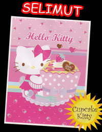 'Selimut Bulu Heloo Kitty Pink '